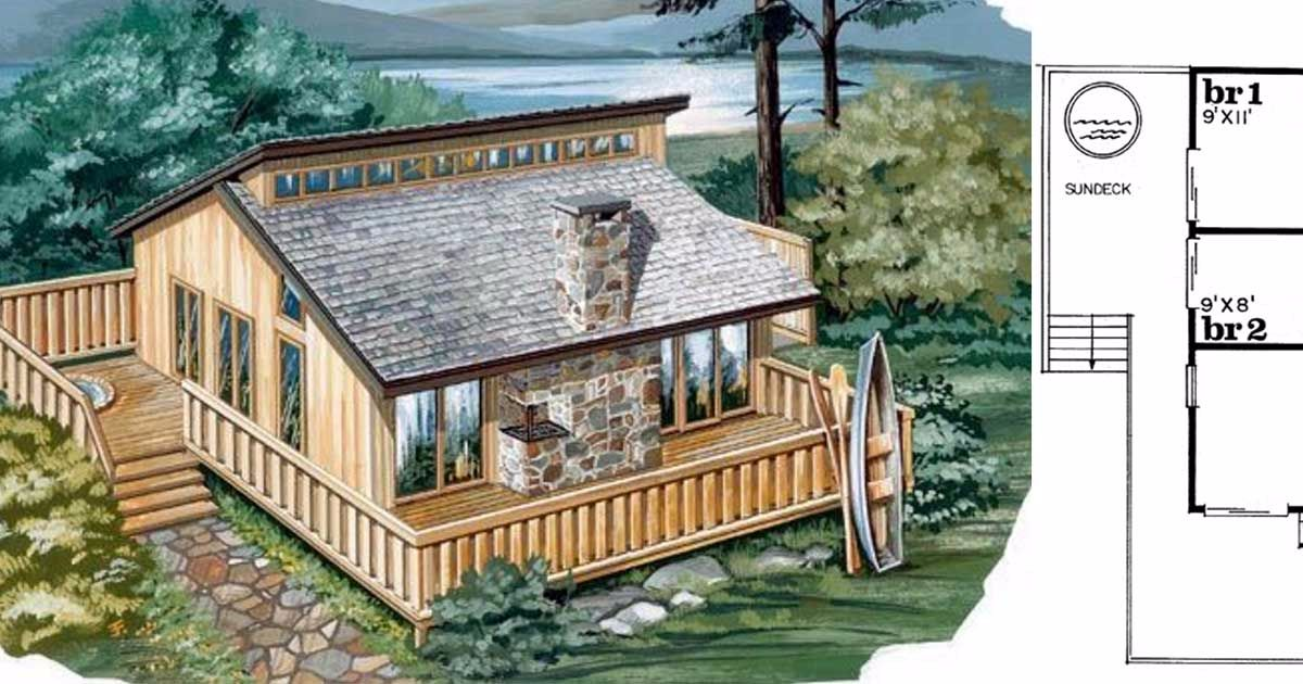6 tiny homes floor plans for single parents or small families for Small family home plans