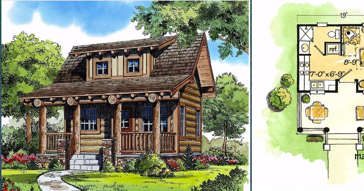 6 Really Cozy Little Log Cabin Floor Plans