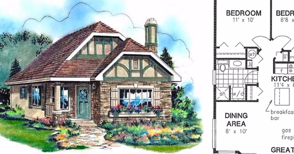 6 Tiny Tudor Home Floor Plans