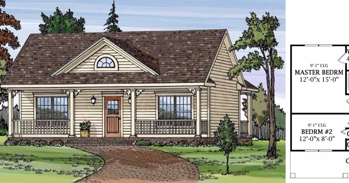 6 tiny two bedroom country home floor plans On 6 bedroom country house plans