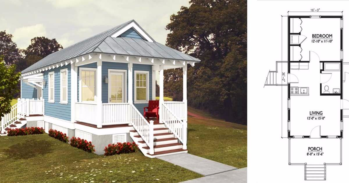 6 Tiny Cottage Floor Plans Designed For Narrow Lots