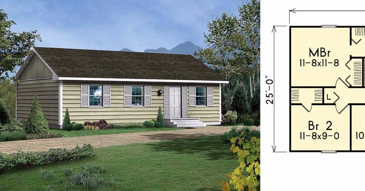 6 well designed tiny ranch home floor plans perfect for for Well designed homes